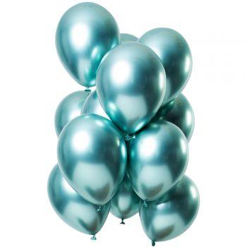 Strauß 12 Ballons Grünen Metal-Effekt