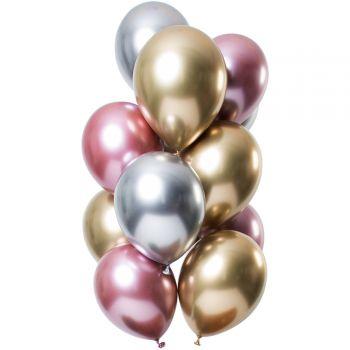 Strauß 12 Ballons Morganite-Metal-Effekt