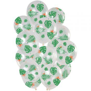 Strauß 15 durchsichtige Tropenballen