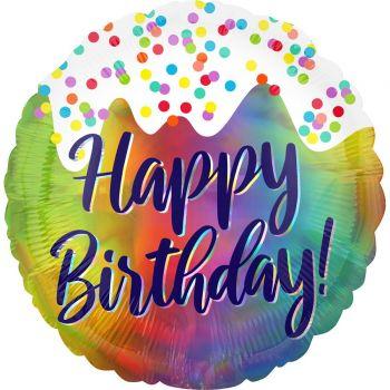 Helium Ballon Happy Birthday frosting 43cm