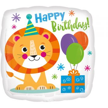 Helium Ballon Löwe Happy Birthday
