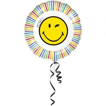Helium Ballon Smiley rund