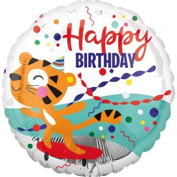 Tiger Helium Ballon Happy Birthday