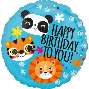 Helium-Ballon Safari Happy Birthday