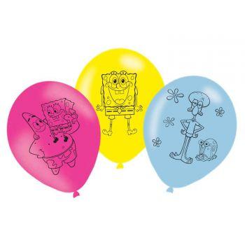 6 Geburtstagsbälle SpongeBob