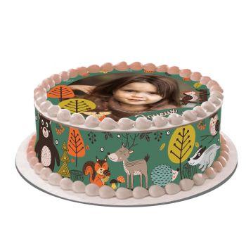 Easycake Kit für personalisierte Kuchen Tiere aus dem Wald