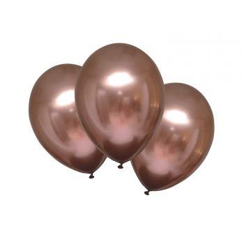 6 Metall-Ballons Luxus-Satingold