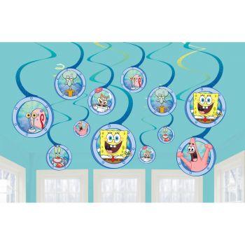 12 Dekorationen wirbeln SpongeBob