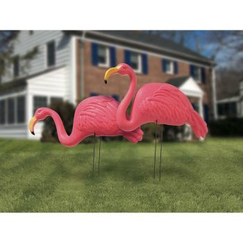 2 Flamingo Rosa Kunststoff
