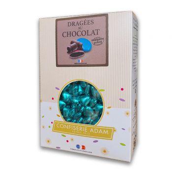 Dragees mini Herz Schokolade glänzend blue gold 1kg