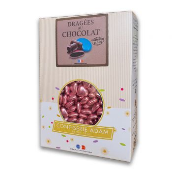 Dragees mini Herz Schokolade glänzend pink gold 1 kg