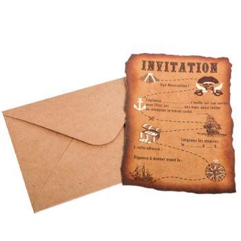 8 Karten Einladungen Piraten karte