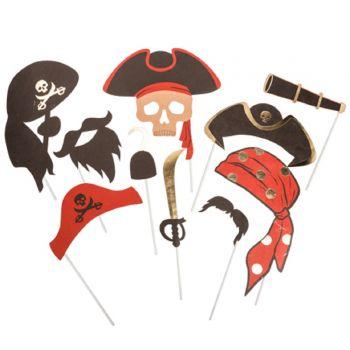 Fotobooth-Kit Vergoldete Piraten