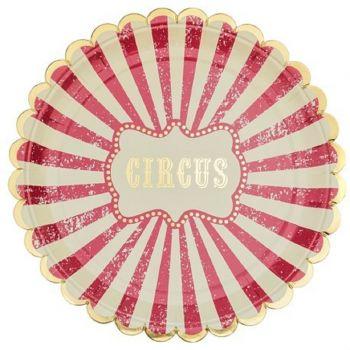 8 Teller Karton circus vintage