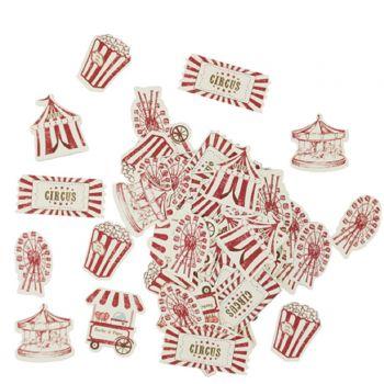 100 Konfetti Karton circus vintage