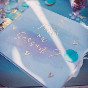 Gästebuch Gender reveal Mädchen oder Junge