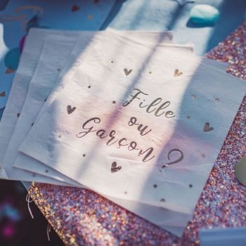 16 Handtücher Gender reveal Mädchen oder Junge