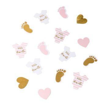100 Konfetti kleines Wunder rosa gold