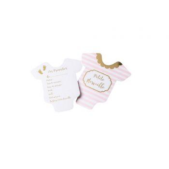 10 Karten Tippen kleines Wunder rosa Gold