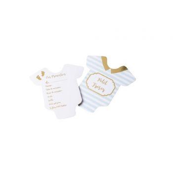 10 Karten Tippen kleine Schatz blau weiß gold