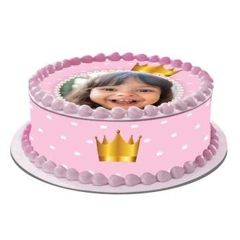 Easycake Kit für personalisierte Kuchen Prinzessin Krone