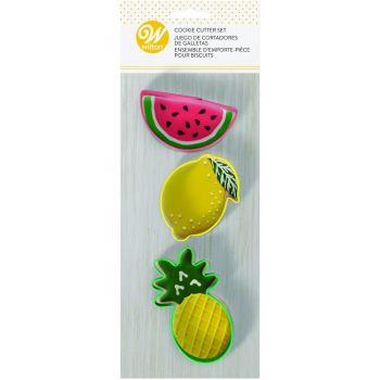 3 Ausstechform Mitnehmen Wilton Früchte
