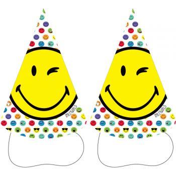 8 Smileyworld Karton Hüte