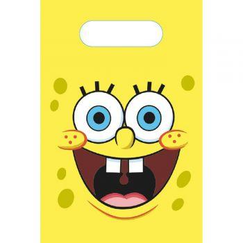8 partybeutel aus Papier SpongeBob