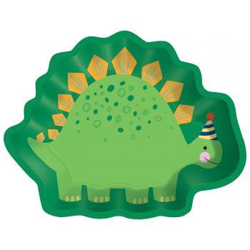 8 festliche Dino Teller