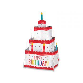 herzstück tishdeko Kuchen Happy Birthday color