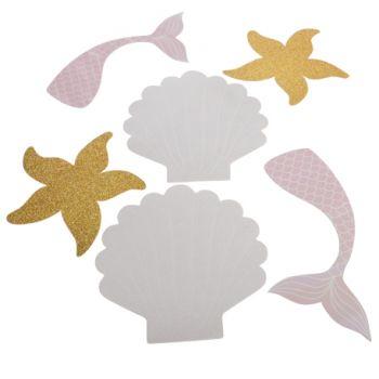 6 Iris- und Glitzer-Meerjungfrau dekoriert
