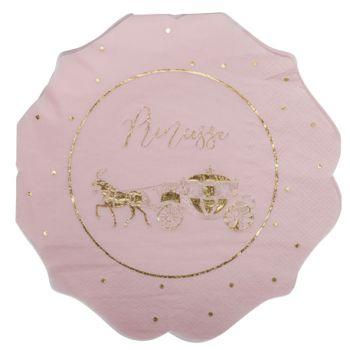 16 Servietten Prinzessin rosa