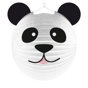 Laterne aus Panda-Kopfpapier
