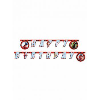 Banner Happy Birthday Ladybug Miraculous