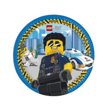 8 Teller kompostierbar Lego city
