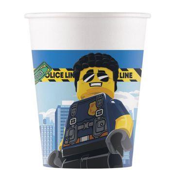8 Kompostierbare Becher Lego city