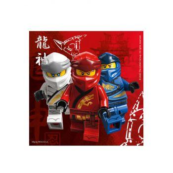 20 Kompostierbare Servietten Lego Ninjago