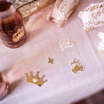 100 Konfetti Prinzessin Glitzer rosa Gold