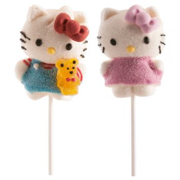 Marshmallow lollis hello kitty