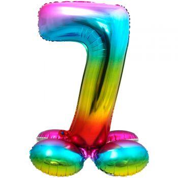 Riesiger Ballon-Zahl zu landen Bogen in den Himmel Nr. 7