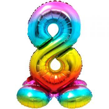 Riesiger Luftballon zu landen Regenbogen Nr. 8