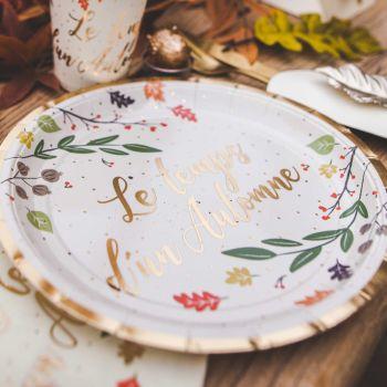 8 Teller Herbstzeit