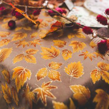 Samtener Tischpfad Herbstblätter