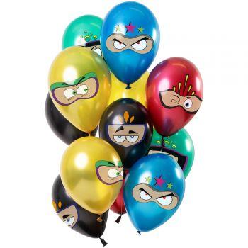 Strauß 12 Superhelden Luftballons