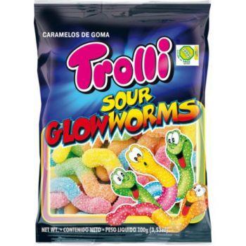 Süßigkeiten Glowworms Trolli 100gr