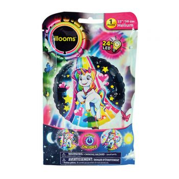 1 Hellium-Ballon Lichter einhorn