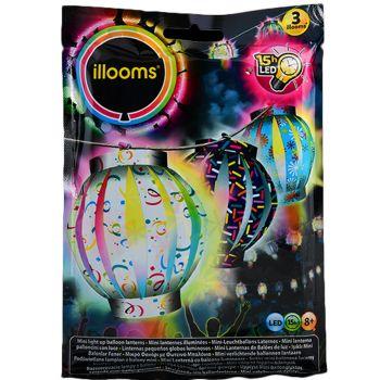 3 Mini-Luftballons Leuchtende Laternen