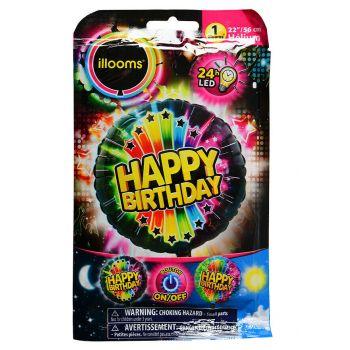 1 Hellium-Ballon Happy Birthday hell