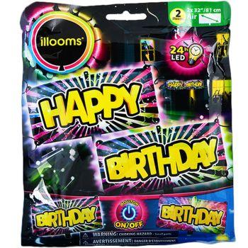 2 Hellium-Ballons Happy Birthday hell
