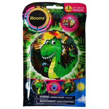 1 Hellium-Ballon Hell-Dinosaurier